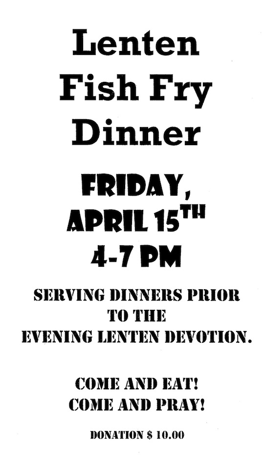 Fish fry dinner in Schenectady