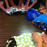 Blessing of handmade prayer blankets