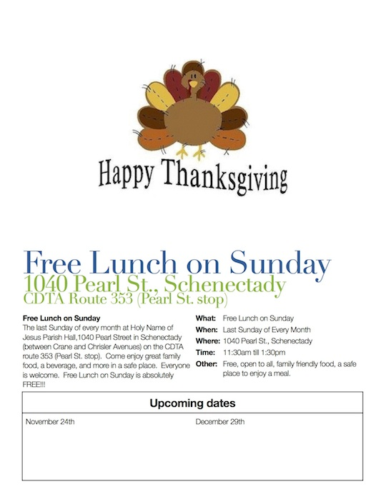 Free Lunch on Sunday Flyer