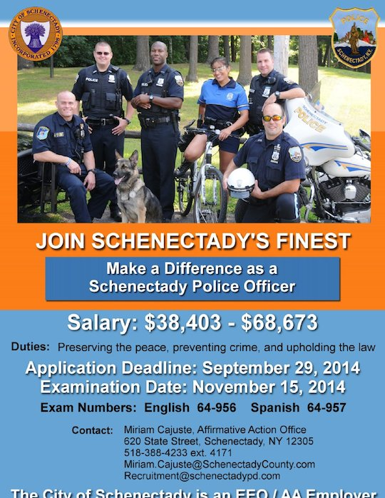Schenectady police officer exam